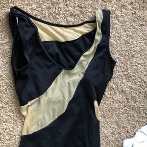 Large body wrappers leotard has mesh cutouts black